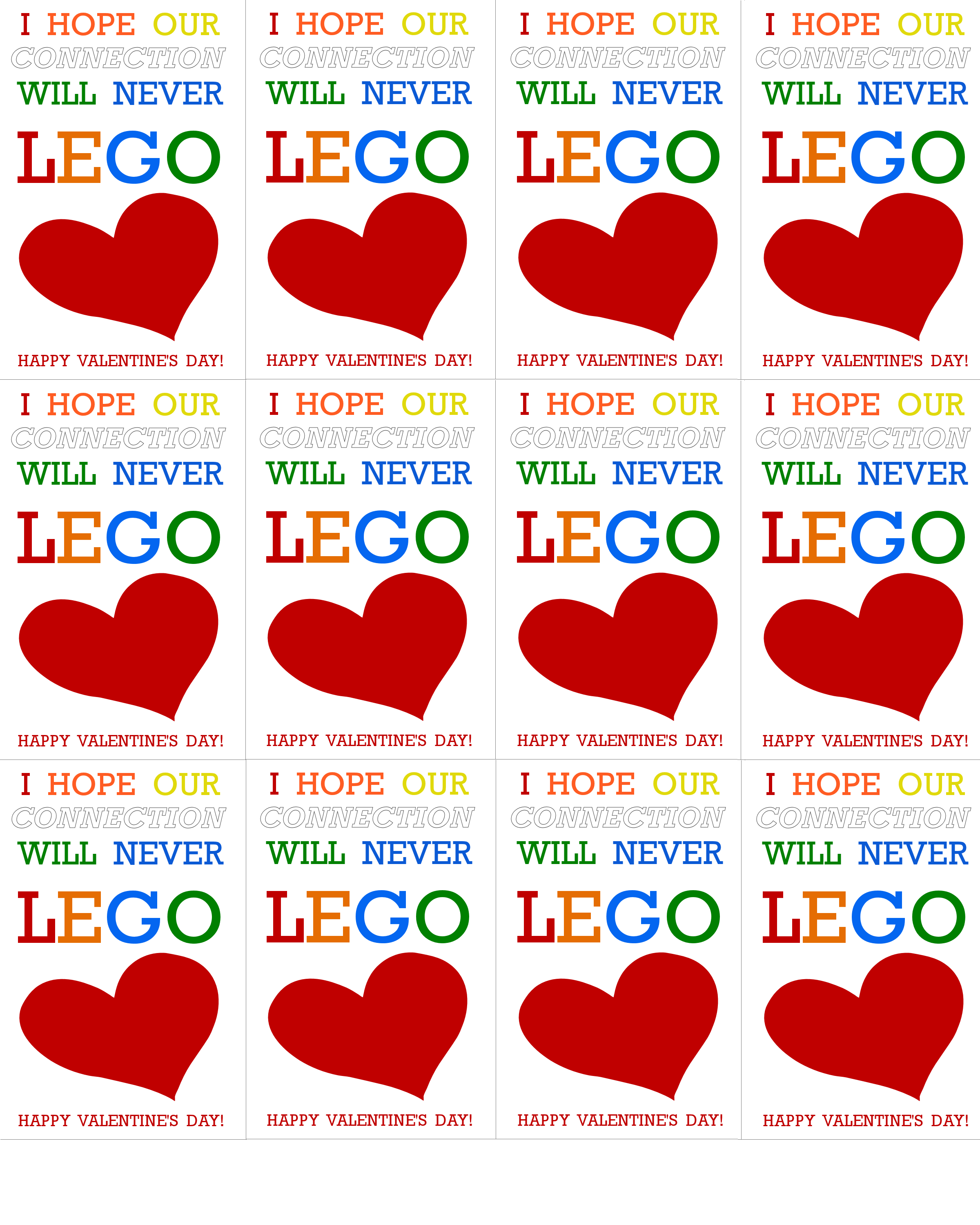 Lego Valentine S Day Cards Printable Our Kid Things