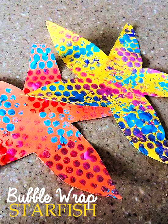 Bubble Wrap Starfish Craft Under the Sea Craft, Summer Craft