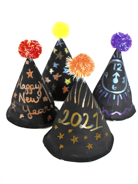 paper plate party hats craft main image