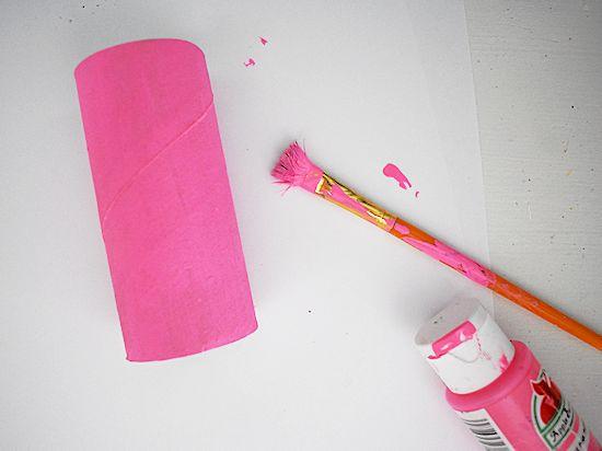 paint cardboard roll