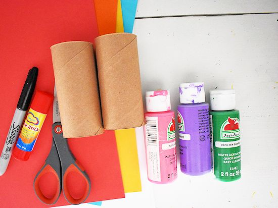 Cardboard Roll Love Monster Craft supplies needed