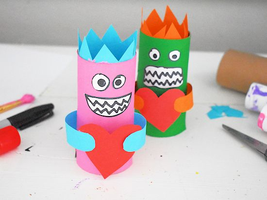 Cardboard Roll Love Monsters
