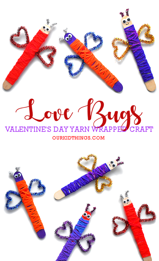 Craft Stick Love Bug Craft pin image