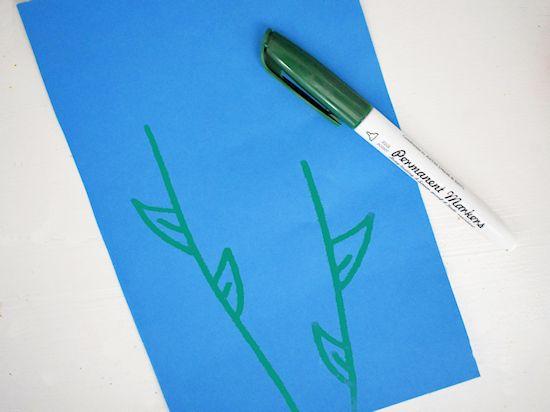 green marker flower stems