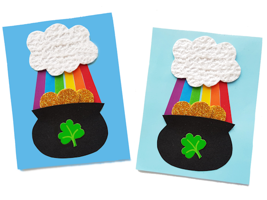 Paper Pot of Gold Craft styled image