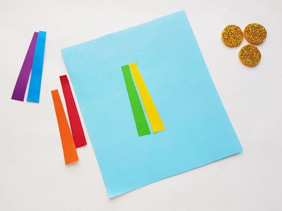 Rainbow paper strips.