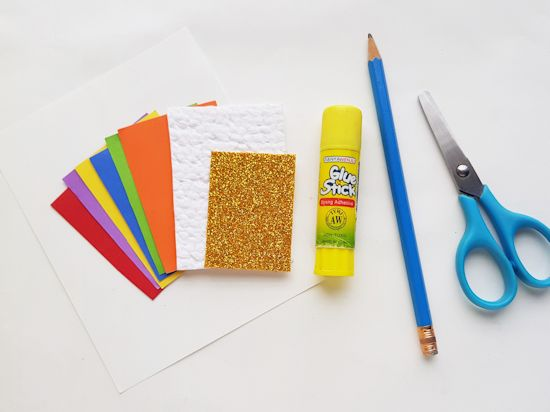 Paper Pot of Gold Craft supplies needed.