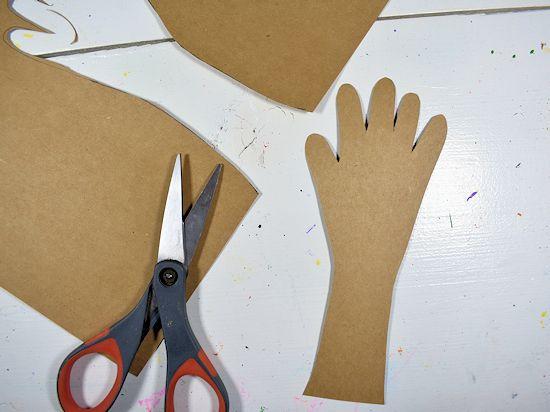 Cut out the handprint.