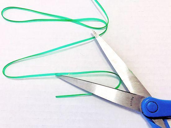 Cut string for landyard.