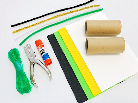 St. Patrick's Day Cardboard Roll Binoculars Craft supplies needed