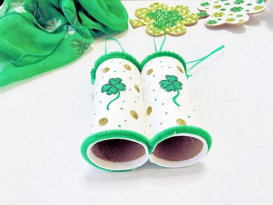 St. Patrick's Day Cardboard Roll Binoculars Craft