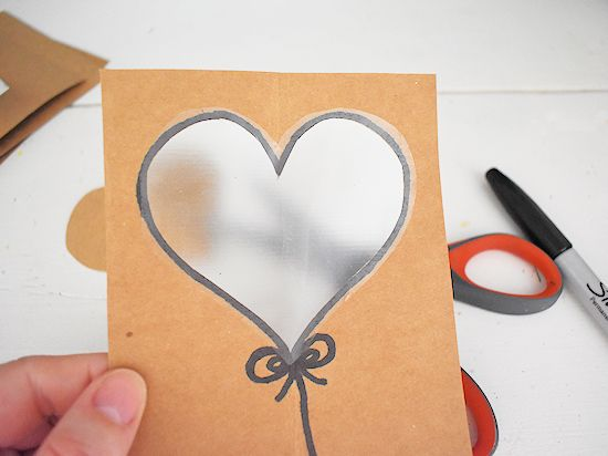 contact paper over heart