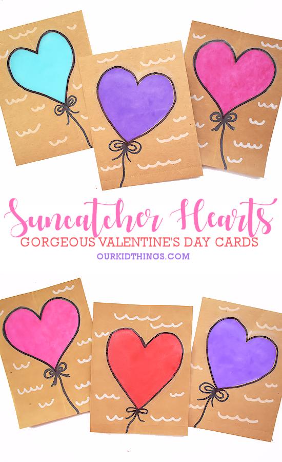 Suncatcher Heart Cards pin image