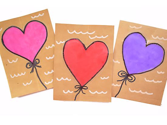 Suncatcher Heart Cards styled image on white background