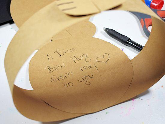 Bear hug card message.