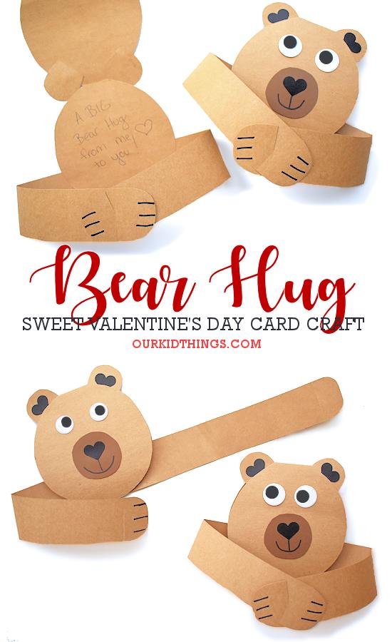 Bear Hug Card pin image.