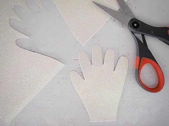 Cut out handprint.