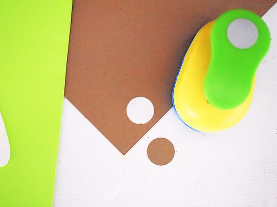 Small brown cardstock circle for nose.