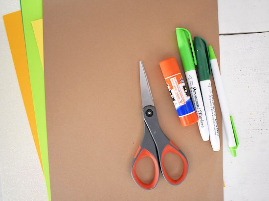 Handprint Lucky Gnome Craft supplies needed.