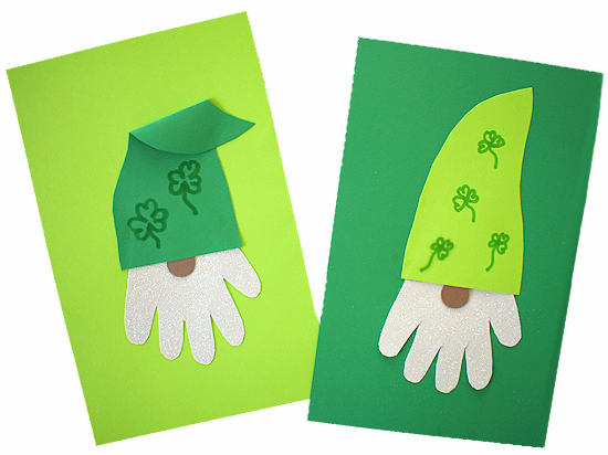Handprint Lucky Gnome Craft styled image.