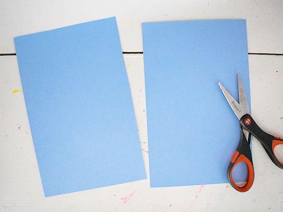 Base cardstock cut in half.