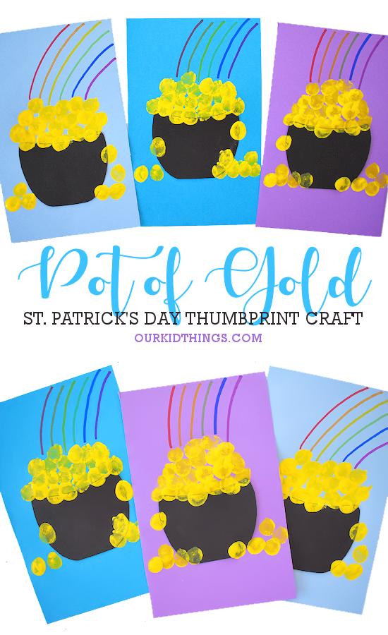 Thumbprint Pot of Gold Craft pin image.