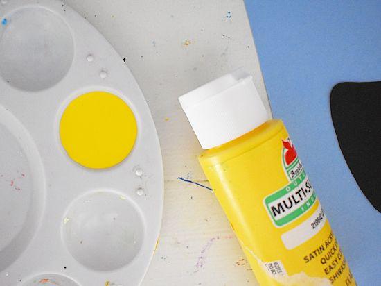 Yellow paint.