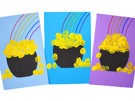 Thumbprint Pot of Gold Craft styled image.