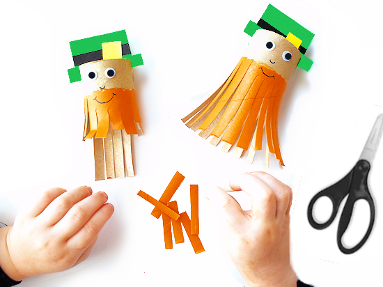 Trim the Leprechaun's Beard Scissor Craft styled image.