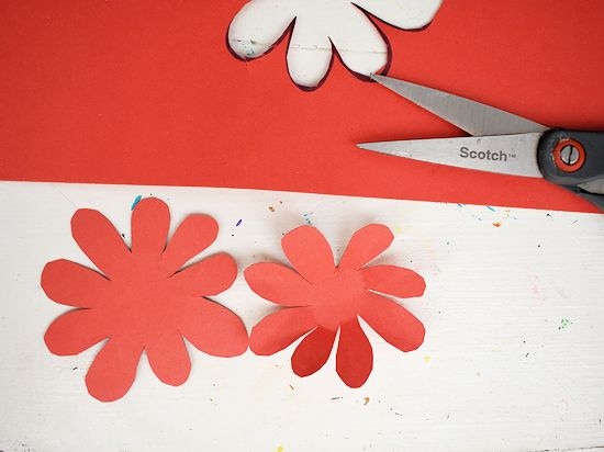 Cut out the flower shapes.