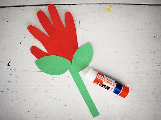 Glue the flower together.