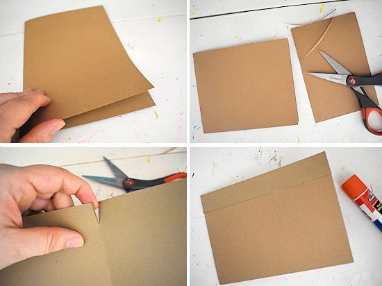 Fold and cut the card to begin a flower pot shape.