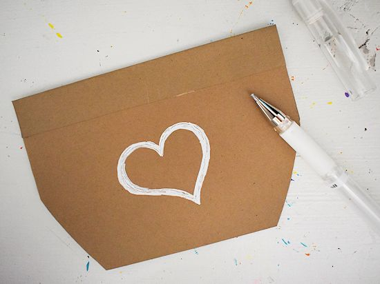 Draw a design on the front of the card.