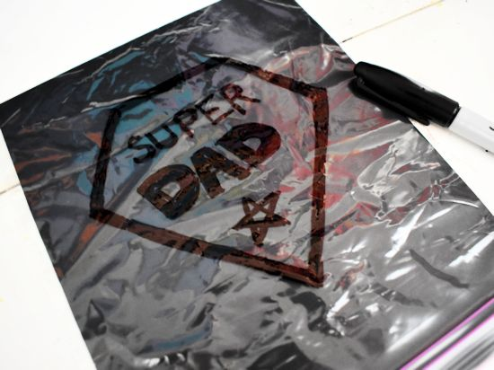 Draw a message or design on the baggie with a black sharpie.