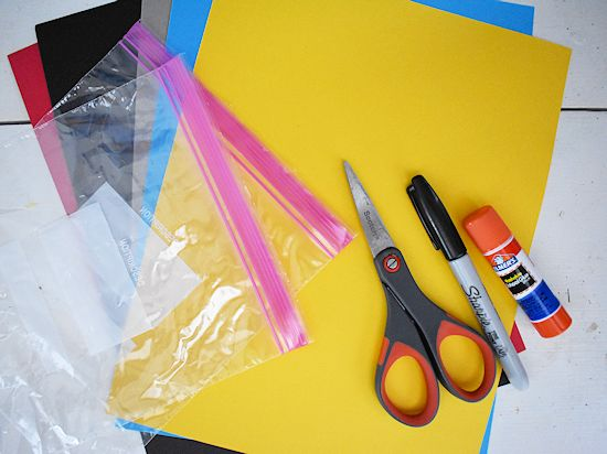 Father's Day Magic Flashlight Card craft supplies needed.