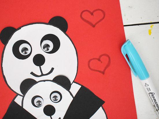 Draw hearts.