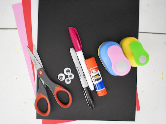 Panda Bear Mother's Day Craft supplies needed.