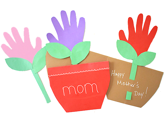 Mother's Day Handprint Flower Pot Card styled image.