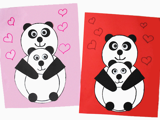 Panda Bear Mother's Day Craft styled image.