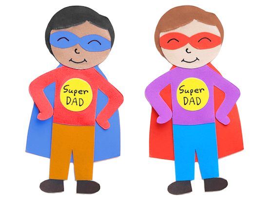Paper Super Dad Craft styled image.