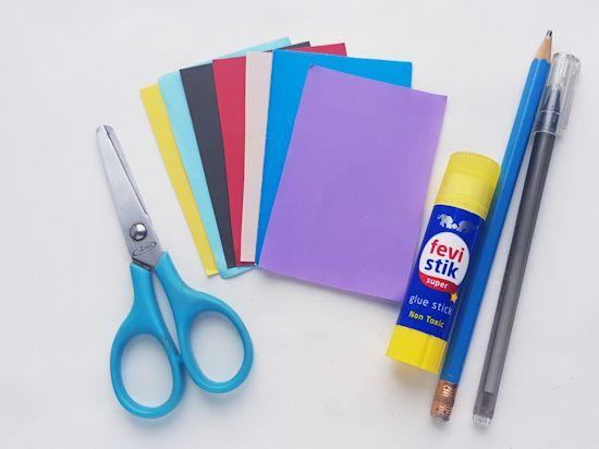 Paper Super Dad Craft supplies needed.