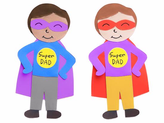 Paper Super Dad.
