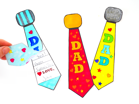 Father's Day Color-In Tie Card styled image.
