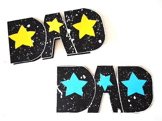 Galaxy Dad Card styled image.