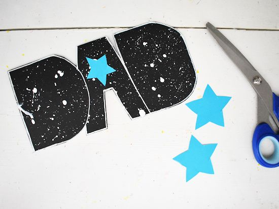 Cut stars from your choice of color cardstock.