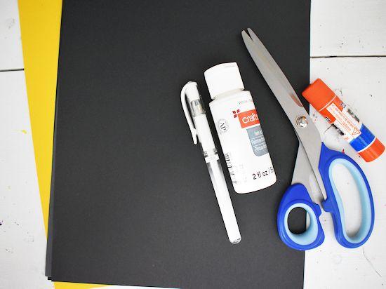 Galaxy Dad Card craft supplies needed.
