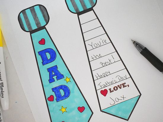 Write Father's Day message.